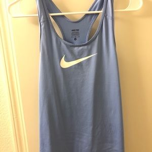 Nike Pro Dri-Fit Light Blue Racerback Tank Top